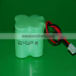 NiMH Battery Pack 4.8V C 4500mAh with 18~24#AWG Wires and Connector