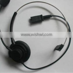 Over-the-Head monaural rj9 call center headset with QD optional