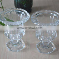 clear crystal votive glass using for candle
