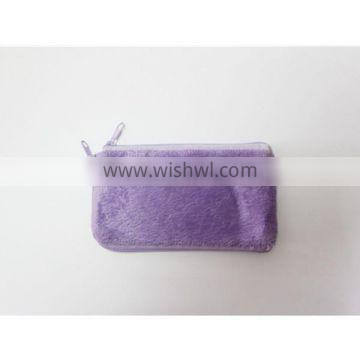 Velboa Lady Purse , Girl Wallet , Pocket Color Can Customize