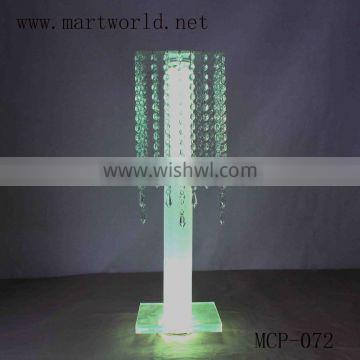 New design LED lighting crystal and acrylic flower stand party and wedding decorations supplies in guangzhou (MCP-072)