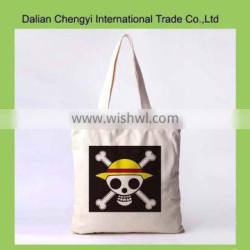 Factory price special design printed natural cotton canvas shopping bag