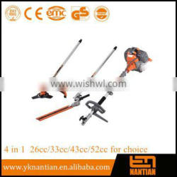 4 in1 hedge trimmer brush cutter chain saw multi tools 26cc/33cc/43cc/52cc for choice