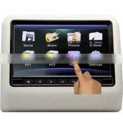 9 inch Active Slot in Car Headrest DVD Player with FM Transmitter/IR/USB/SD/Wireless Game