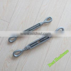 Fastener fittings US type heavy duty galvanized turnbuckles with eye and eye