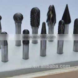 10pcs rotary burrs set in wooden case