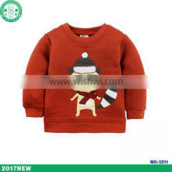 China Factory Infant Clothes Fox Printing Warm Long sleeves Baby Winter Coat For Boy