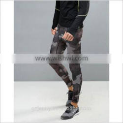 Factory Price Wholesale Men SPORT Running Tights In Black Camo