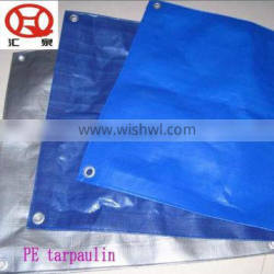 Blue tarp material tarpaulin roll,poly woven tarp material,round bale hay tarps cover
