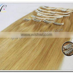 Wholesale human hair extensions clip in hair extension remy clip in hair extension 220 grams