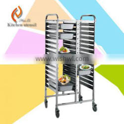 Heavy duty heavy loading ISO9001 import stainless steel commercial hospital medicine trolley cart for hospital