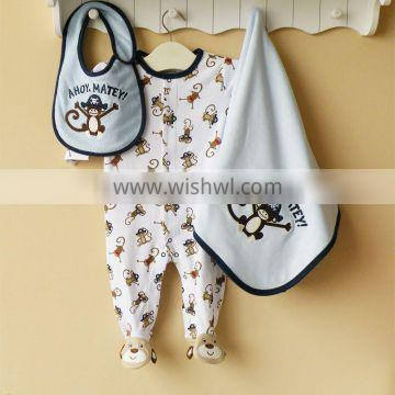 baby clothing 100% cotton embroider clothing set