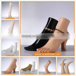 Fiberglass Boutique Measurements Display Foot Mannequin