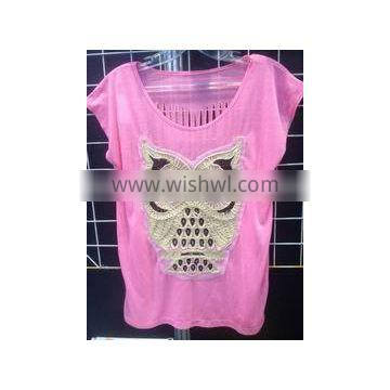 2017.5.1, 100% cotton lady women knitting jersey vest top tshirt