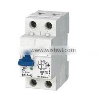 Circuit Breaker for DIN Rails,3-40 RCCB with Overload Protection(RCBO)