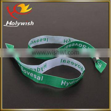 Holywish cheap custom fabric personalised wristbands with OEM logo