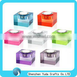 Affordable price factory price clear acrylic candle holders wedding decoration candle wholesale