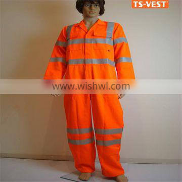 Anti-pilling comfortable waterproof reflective safety coverall