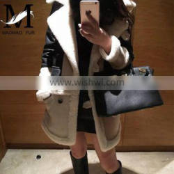 2016 Latest Women Fashion Leather Jacket / Real Sheep Fur Leather in New Model Ourtdoor Jacket