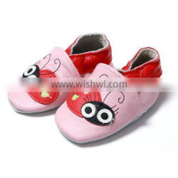 2016 sping summer fall pink red bee pattern baby leather shoes
