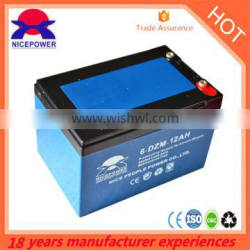 Canton Fair discount price electric scooter battery 12v 12ah battery 6-DZM-14