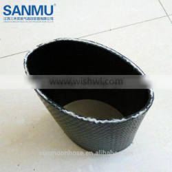 "6"" TPU lay-flat hose with couplings 200psi high quality flexible"