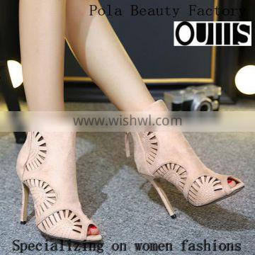 2016 Sexy hollow-out design high heel sandals for hot-selling PE4113