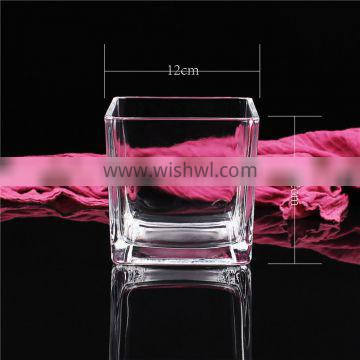 stock 12*12 square candle jar