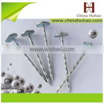 Roofing Nail Type and Iron Material twisted/smooth umbrella roofing nail