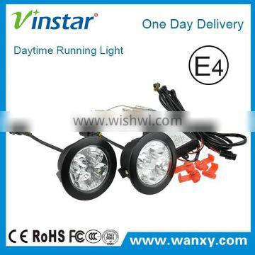 High power round led drl/ daytime running light drl led drl for car with Multi-function