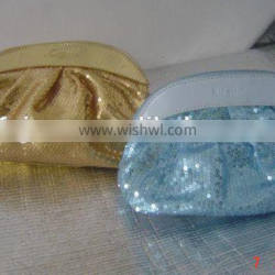 Factory sales fashionable travel hotsale beautiful sequins cosmetic bag