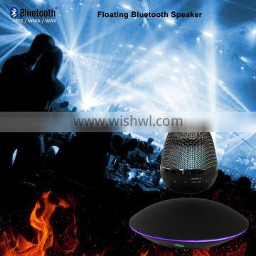 mini magnetic floating bluetooth speaker with automatic rotating