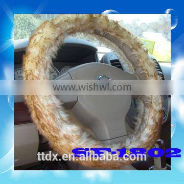 Car accessories Wholesale 38cm Fur Steering Wheel Covers for winter