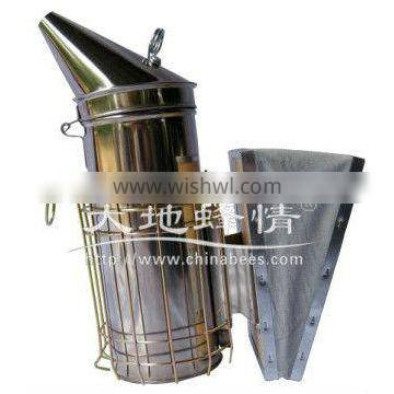 American style smoker made by stainless steel and leather in Wuhan