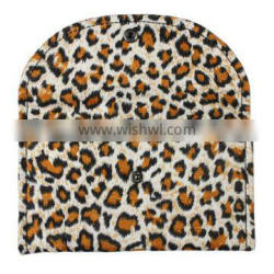 leopard print cloth bag for cosmetics packaging