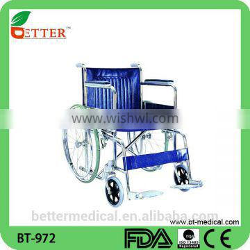 Elderly steel wheelchair