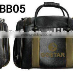 Deluxe PU Golf Boston Bag With Shoes Bag Compartment