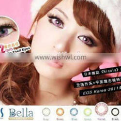 wholesale cosmetic tri colored contact lens 7colors from korean