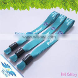 Disposable Fabric Wristbands with Custom Logo for Festival