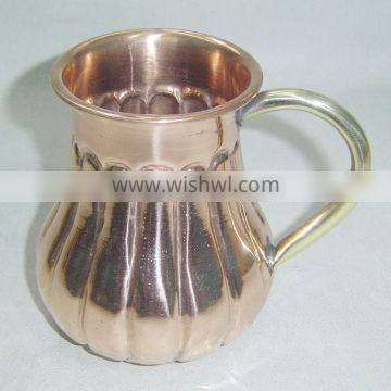 Moscow Mule Copper Mug with brass handle