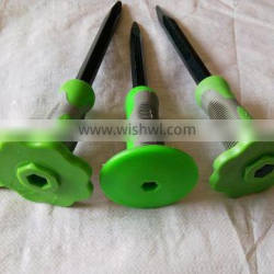 rail steel chisel with rubber grip