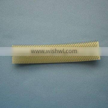 File brush with steel wire on plastic cloth