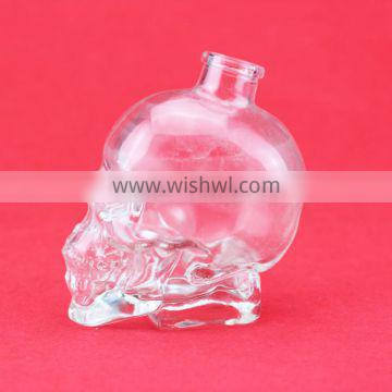 Unique engrave glass bottle frosty bottle skull bottle