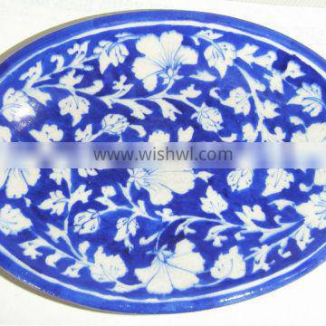 Blue Pottery Ceramic Dinnerware , Designer Dishes and Plates