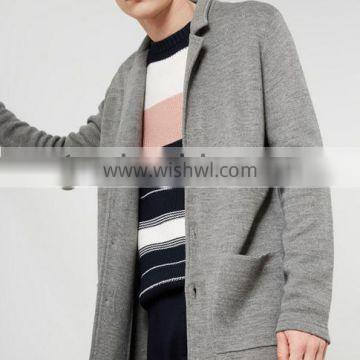 best selling ordinary gray long sweater coat cardigan for men with low prices