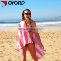 custom sublimation printed logo personalized microfiber dry fit large beach towel