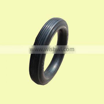 6x1inch solid rubber tire with rib tread for material handling carts