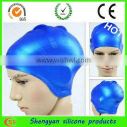 Colorful new swim caps for long hair