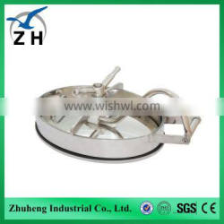 High quality food grade fuel tanker stainless steel manhole cover