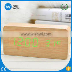 NC001 Hot sale table LED wood clock with alarm,temperature,date